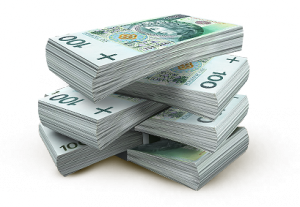 Pieniądze 100 zł - oszcędności