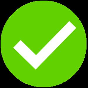 tick ok zielony